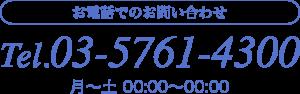 お電話でのお問い合わせ Tel.03-5761-4300 東京都港区北青山3-5-17 R&M 2F 表参道駅A3出口徒歩1分