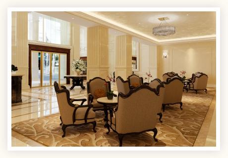 雰囲気の良いホテルのラウンジなどでお見合い